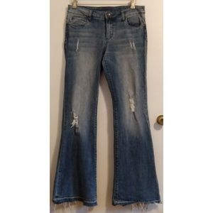Kut From the Cloth Distressed Flares Jeans 10